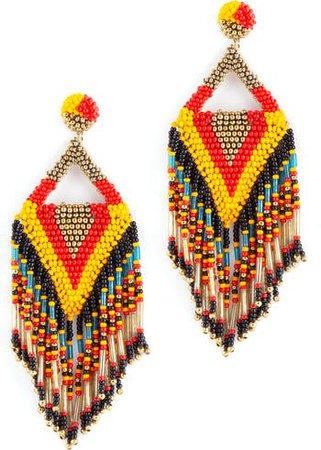 Bina Beaded Tassel Drop Earrings | Nordstrom
