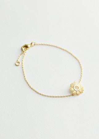 Sun Pendant Chain Bracelet - Gold - Bracelets - & Other Stories