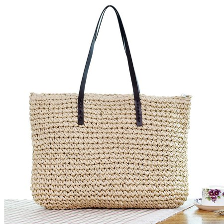 Beach Woven Rattan Handbag