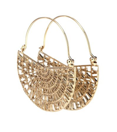 Valentino Garavani logo hoop earrings