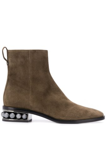 Nicholas Kirkwood CASATI Suede Ankle Boots - Farfetch
