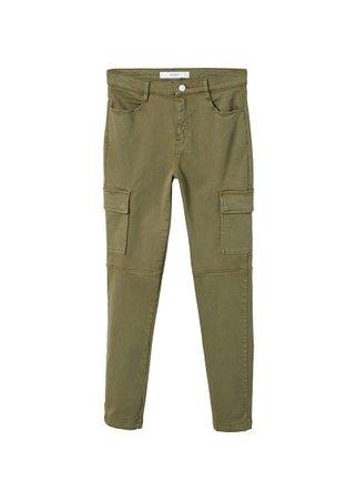 MANGO Cotton cargo trousers