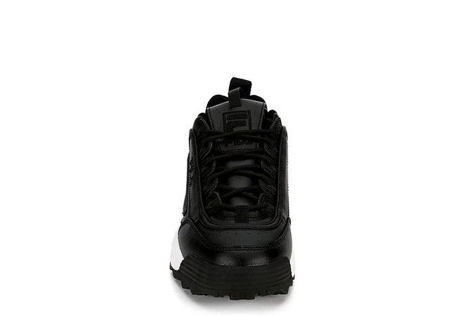 Black Women's Fila Disruptor II Premium Sneakers   Off Broadway Shoes