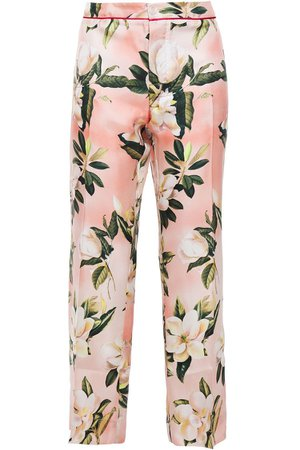 Blush Hypnos printed silk-twill straight-leg pants | Sale up to 70% off | THE OUTNET | F.R.S. FOR RESTLESS SLEEPERS | THE OUTNET