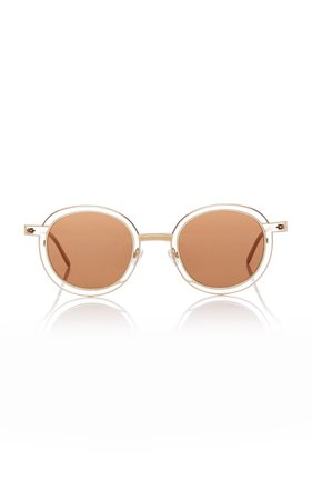 Thierry Lasry Probably Gold-Tone Round-Frame Sunglasses