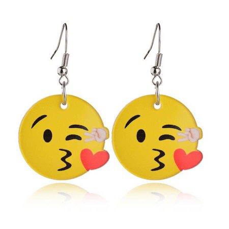red emoji necklace and earrings - Google Search