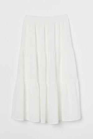 Wide-cut Skirt - White