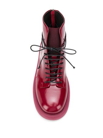 Marsèll Varnished Ankle Boots MMG4707756 Red | Farfetch