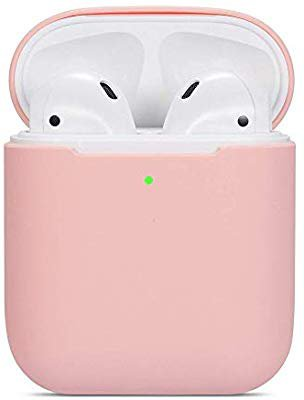 ZALU Compatible for AirPods Case, 0.8mm Ultra-Thin Version, Premium Protective Silicone Cover Skin for AirPods Charging Case 2 & 1 (Pink): Amazon.ca: Electronics