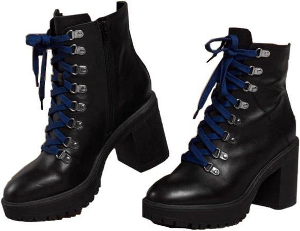 blue lace combat boots