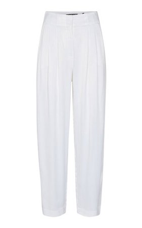 Janis Mid-Rise Crepe Pants By Rotate | Moda Operandi