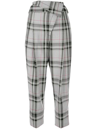 3.1 Phillip Lim Plaid Tapered Trousers - Farfetch