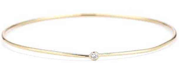Yellow Gold Tiny Diamond Bracelet