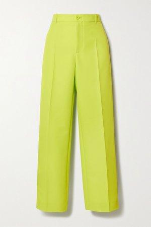 Yellow Neon twill straight-leg pants   Balenciaga   NET-A-PORTER