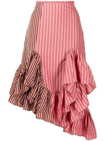 Marques'Almeida Patchwork Ruffled Skirt - Farfetch