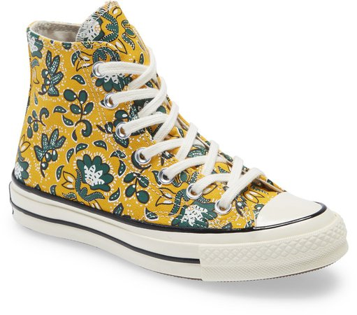 Chuck Taylor(R) All Star(R) 70 Floral High Top Sneaker