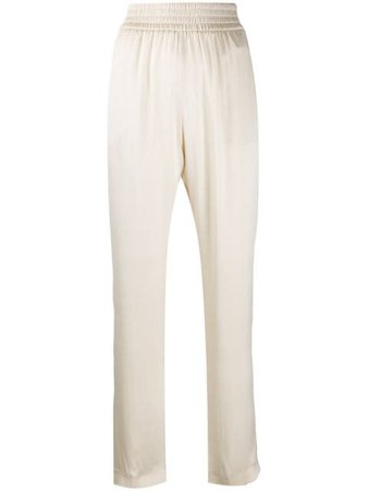 ShopFabiana Filippi high-rise silk trousers with Express Delivery - Farfetch