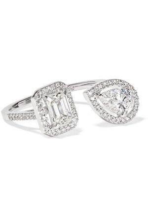 Messika | My Twin Toi & Moi 18-karat white gold diamond ring | NET-A-PORTER.COM