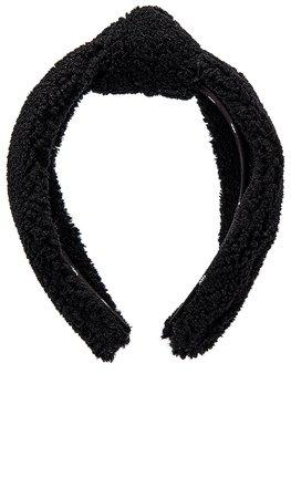 Lele Sadoughi Teddy Knotted Headband in Jet   REVOLVE