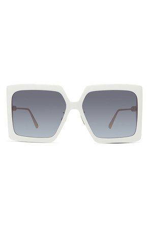 Dior 59mm Gradient Square Sunglasses | Nordstrom