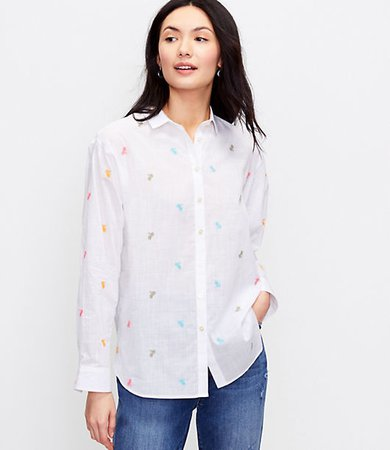 Bicycle Embroidered Relaxed Shirt