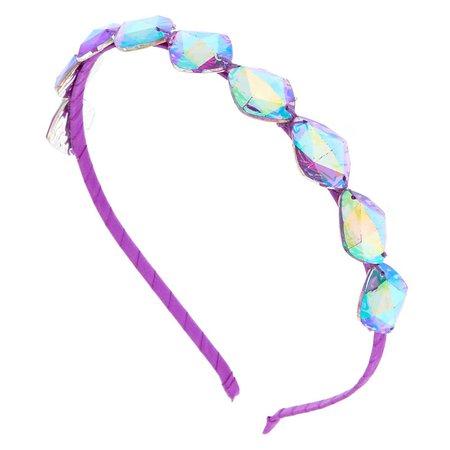 Gem Stone Headband - Purple | Claire's US