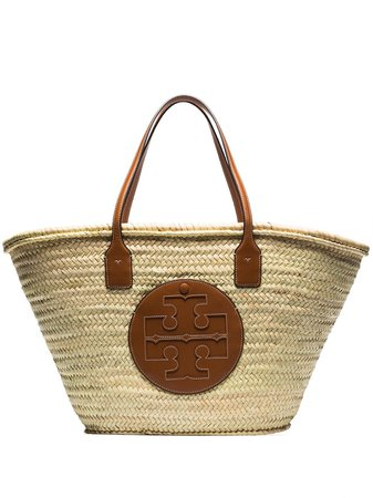 Shop Tory Burch Ella straw tote bag with Express Delivery - Farfetch