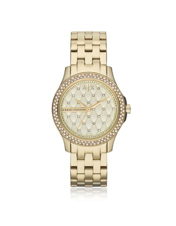 Armani Exchange Lady Hampton Gold Tone Womens Watch