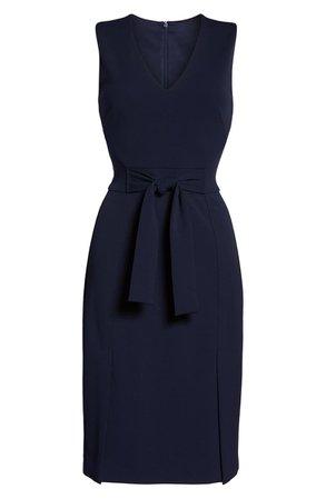 Vince Camuto Scuba Crepe Sheath Dress (Regular & Petite) | Nordstrom