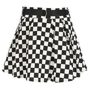 Pleated Checkerboard Skirts   SHOPTERY