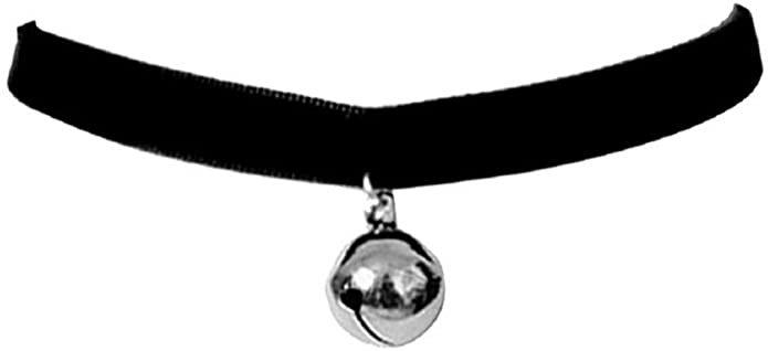 Amazon.com: Ziper Cosplay Black Lolita Bell Choker Cat Gothic Collar: Jewelry