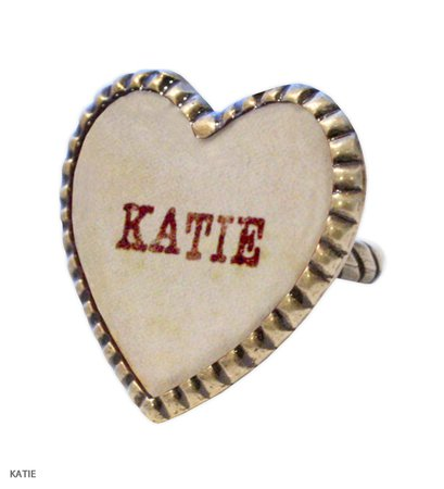 SWEET HEART big heart ring Katie Official Web Store