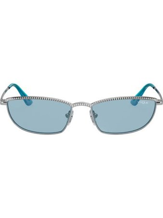 Vogue Eyewear Taura Gem Embellished Sunglasses VO4139SB32380 Silver | Farfetch