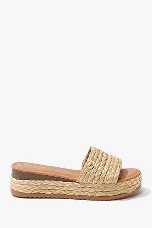 Jute Platform Sandals | Forever 21