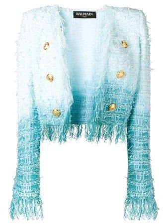 Balmain Tweed Tie Dye Jacket $2,762 - Buy Online - Mobile Friendly, Fast Delivery, Price