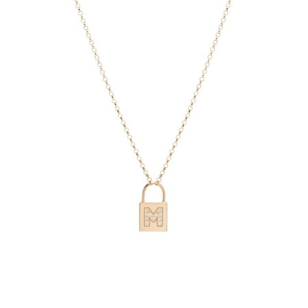 Initial Padlock Necklace – Stephanie Gottlieb