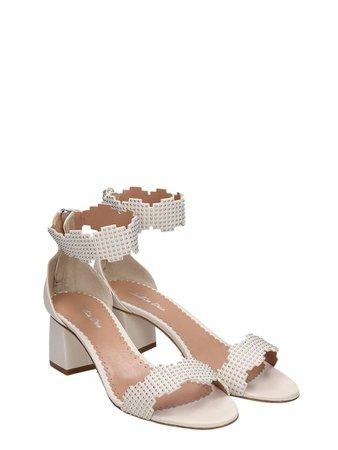 Julie Dee Julie Dee White Leather Sandals - white - 10922502   italist