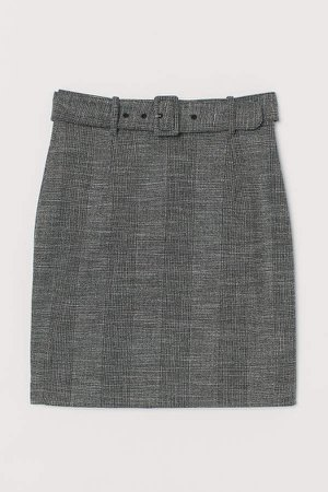 Skirt with Belt - Gray