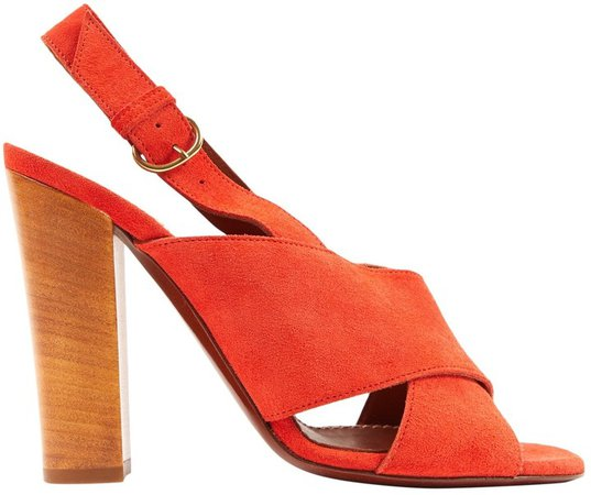 Red Suede Sandals