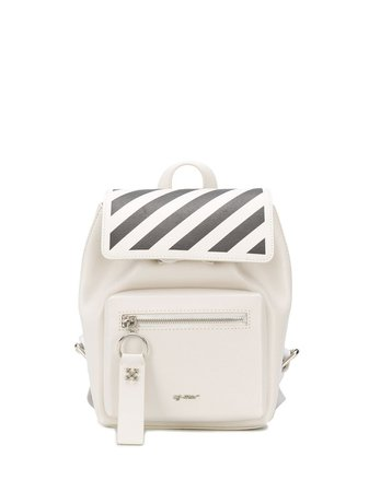 Off-White diagonal-stripes Leather Backpack - Farfetch