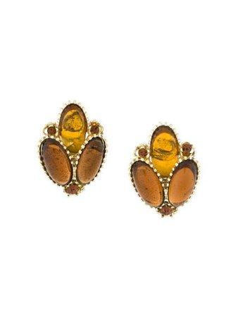 Rewind Vintage Affairs 1950's Embellished Earrings DPPV03R Metallic | Farfetch