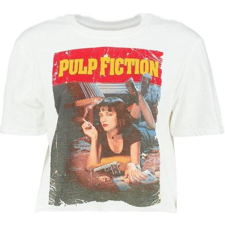 Boohoo Amber Pulp Fiction Licence Crop Top