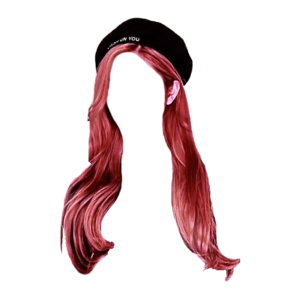 Pink Hair PNG hat