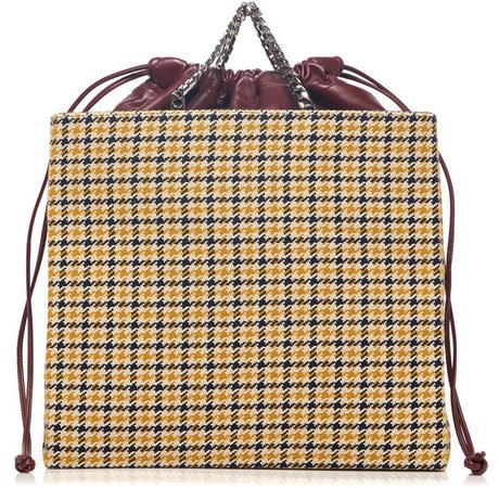 Graphic Houndstooth Tweed Shopper Bag