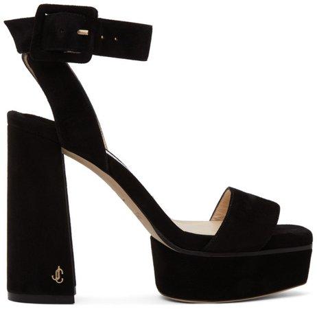 Black Jax 115 Platform Sandals