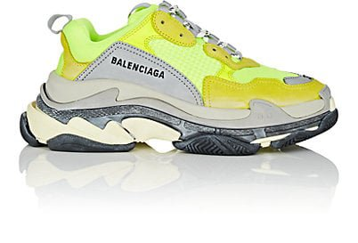 neon yellow balenciaga sneakers
