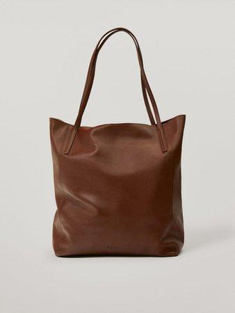 Nappa leather tote bag - Women - Massimo Dutti