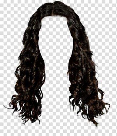 wig-black-hair-long-hair-brown-hair-western-style-long-hair-brunette-pull-graphic-material-free.jpg (500×583)
