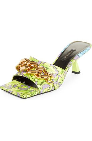 Versace Medusa Chain Slide Sandal (Women) | Nordstrom