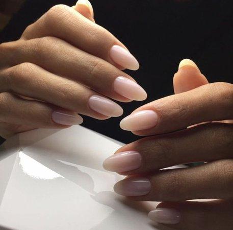 white nude nail